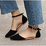 Ankle-Strap Ballet Flats