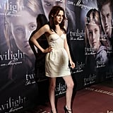 A chic strapless look at the Germany premiere of Twilight in 2008.