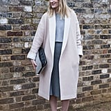 A borrowed-from-the-boys oversize coat can be a really chic look.