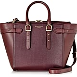 Aspinal of London Medium Marylebone Burgundy Leather Tote (£795)