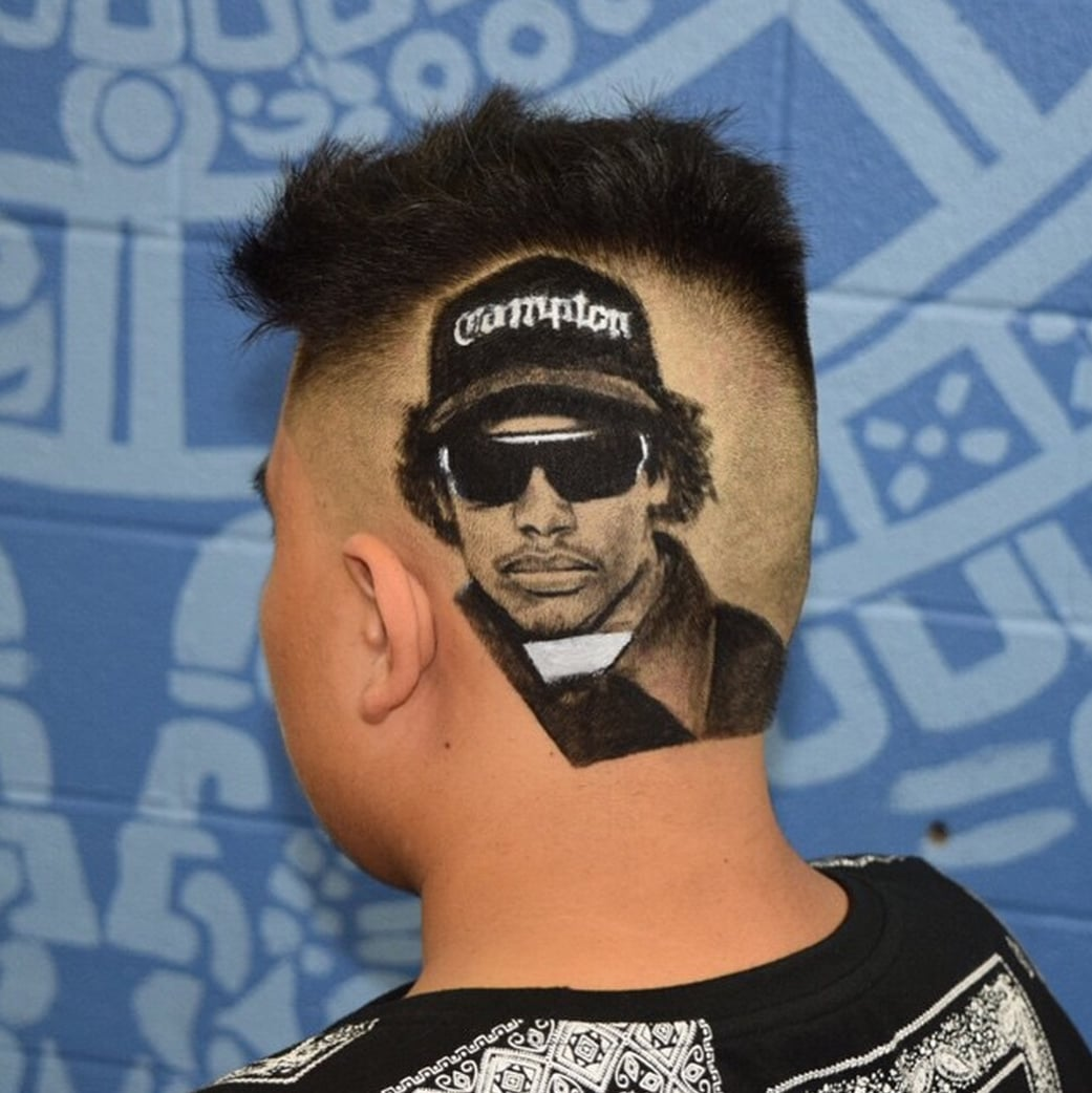 Eazy-E  This Barber Makes Celebrity Portraits Out of Hair