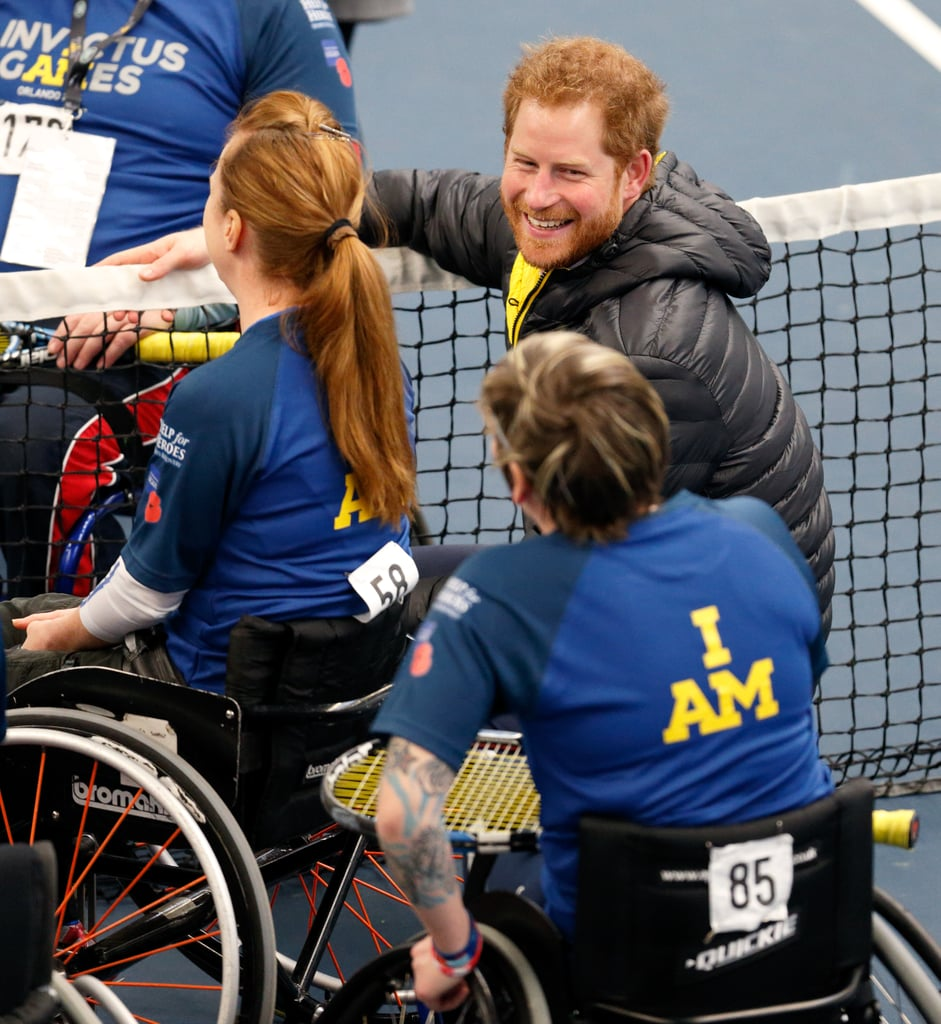 Harry turned on the charm as he met with Invictus Games competitors in Bath, England, in January.