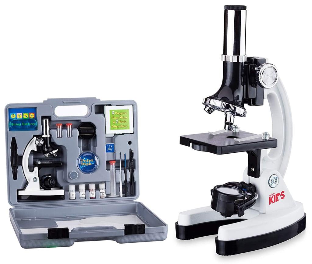 AmScope 52-Pcs Kids Beginner Microscope STEM Kit