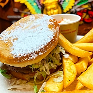Beignet Burger at Walt Disney World's Port Orleans Resort