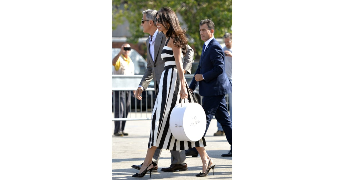 A Striped Midi That S Nothing But Classic Amal Clooney