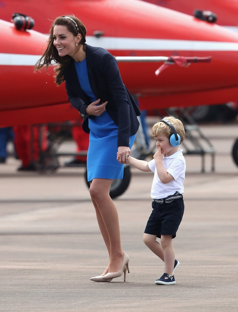 Kate Holding Hands With George, 2016
