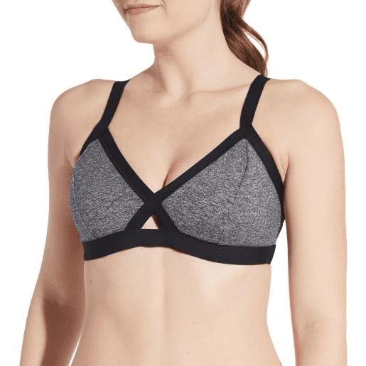 CALIA Women's Elastic Tri-Strap Swim Top