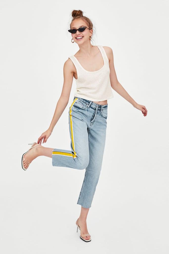 Zara Authentic Hi-Rise Straight Leg Jeans