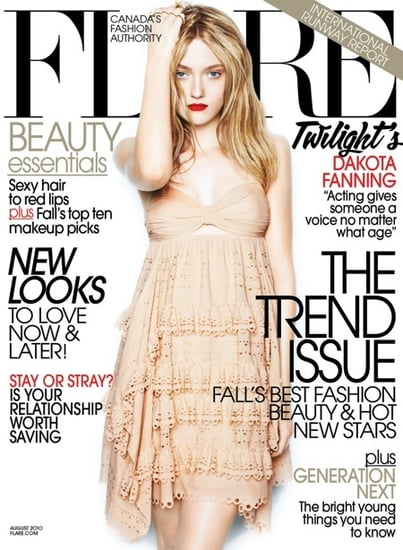 Dakota Fanning on the cover of Flare-august 2010