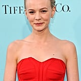 Carey Mulligan wore a red strapless dress for the Great Gatsby NYC premiere.