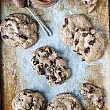 Caramel Stuffed Vegan Chocolate Chip Cookies