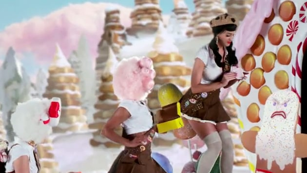 Katy even looks sassy as a girl scout.
