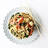 Garlic, Kale, and Cashew Fried Rice
