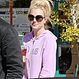 Britney Spears sported sunglasses in Calabasas, CA.