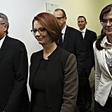 Julia Gillard and her supporters entered the caucus room for the leadership ballot at Parliament House on June 26, 2013. Moments later Kevin Rudd had won back the Prime Ministership of Australia.