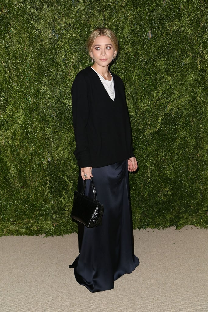 When Complete With a Floor-Grazing Silk Skirt, You Can Wear Your Sweater to Dinner