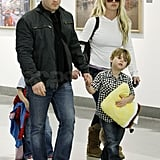Britney Spears Heads Home With Jayden James and Sean Preston