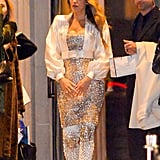 Blake Lively Glistened Under the Lights in Her Sequinned Ensemble