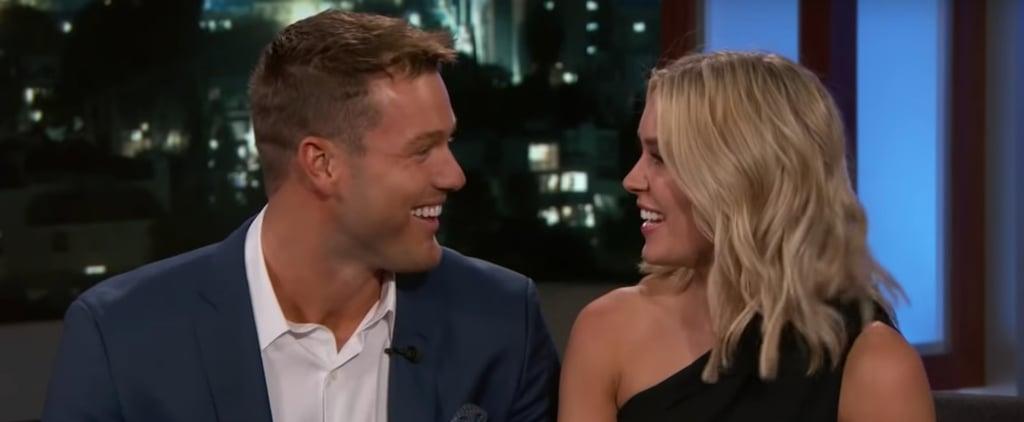 Colton Underwood and Cassie Randolph on Jimmy Kimmel 2019