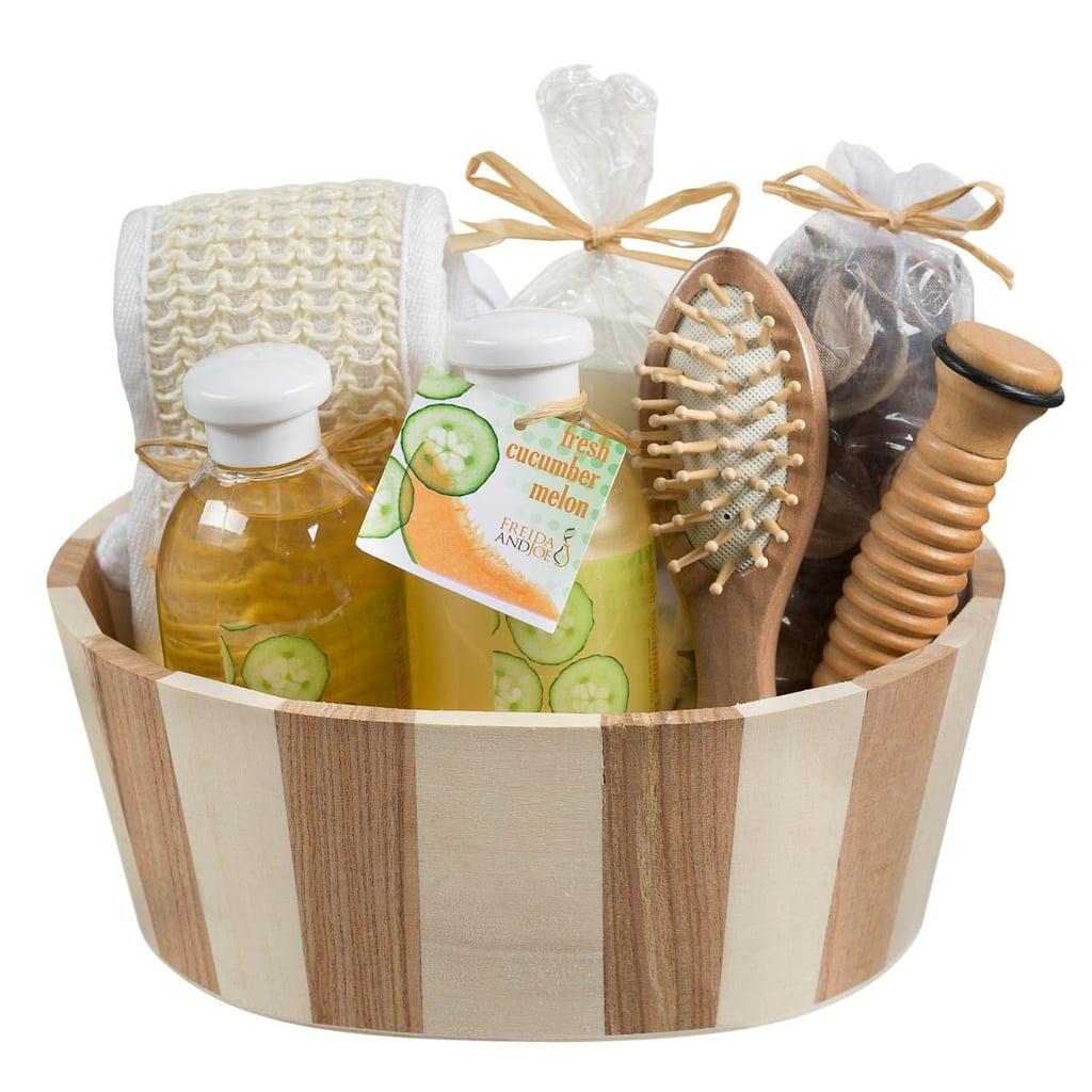 Fresh Cucumber Melon Wooden Massage and Reflexology Spa Kit