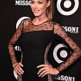 Doutzen Kroes mixed it up in polka dots.
