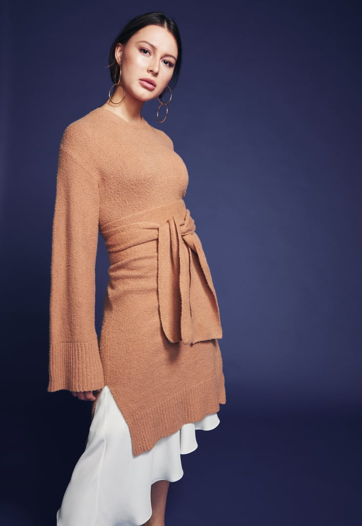 A camel sweater — with a twist