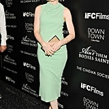 Melissa George walked the Ain't Them Bodies Saints black carpet in a sleek green Calvin Klein Collection sheath.