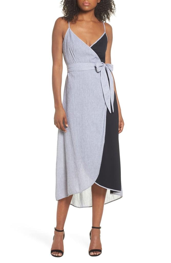 THML Cami Wrap Midi Dress