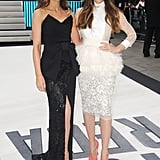 Jessica Biel and Kate Beckinsale complimented each other in contrasting black and white dresses.