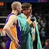 Craig Sager in a Teal Suit