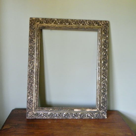 Large vintage detailed gold frame wood by jollytimeone on Etsy