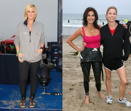 Celebrities in the Nautica Malibu Triathlon: Teri Hatcher, James Marsden, Kimberly Caldwell, Mark Feuerstein
