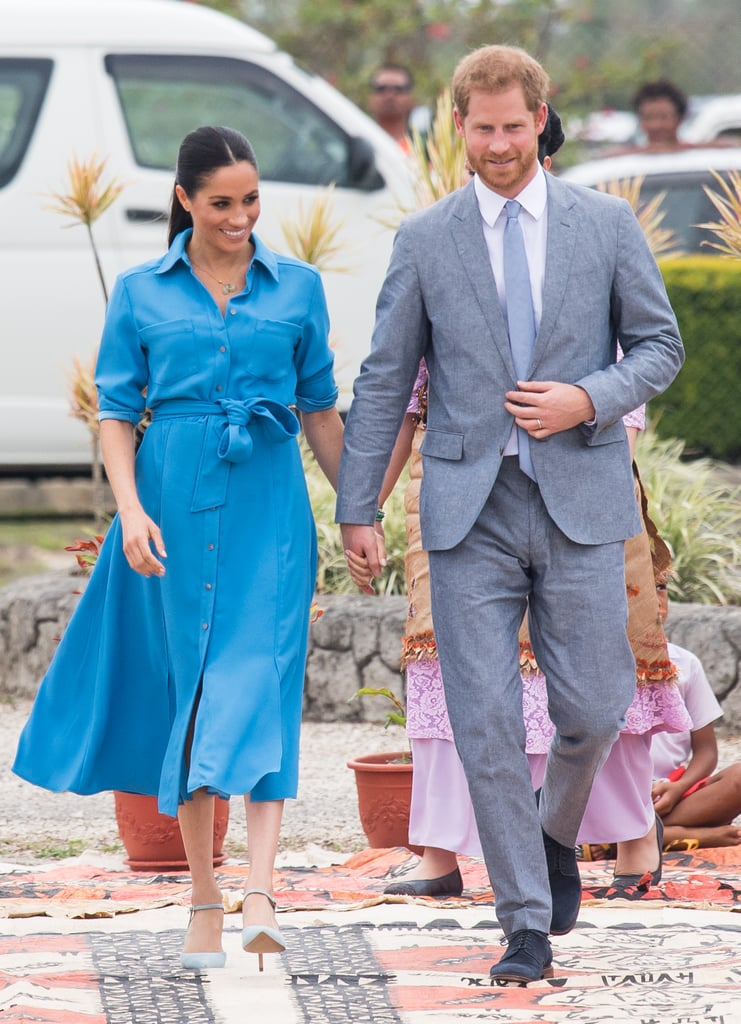 Prince Harry and Meghan Markle During an Autumn Tour in Tonga in 2018