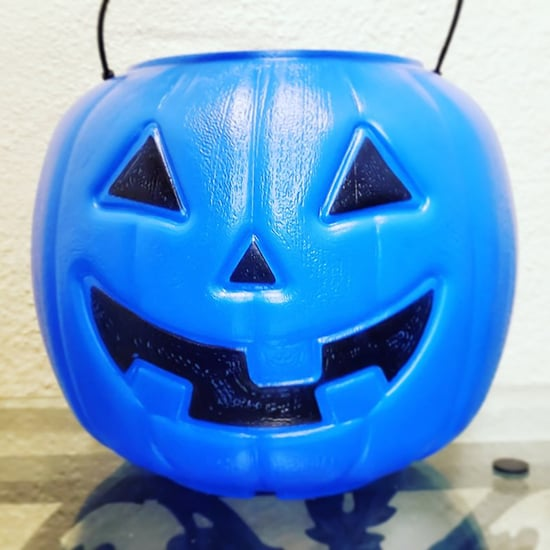 Blue Halloween Bucket For Autism