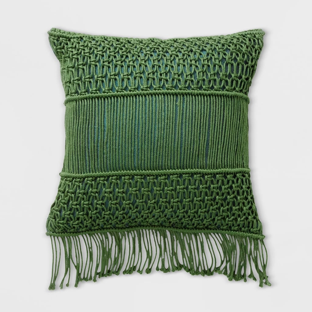 Macrame Two Tone Outdoor Pillow