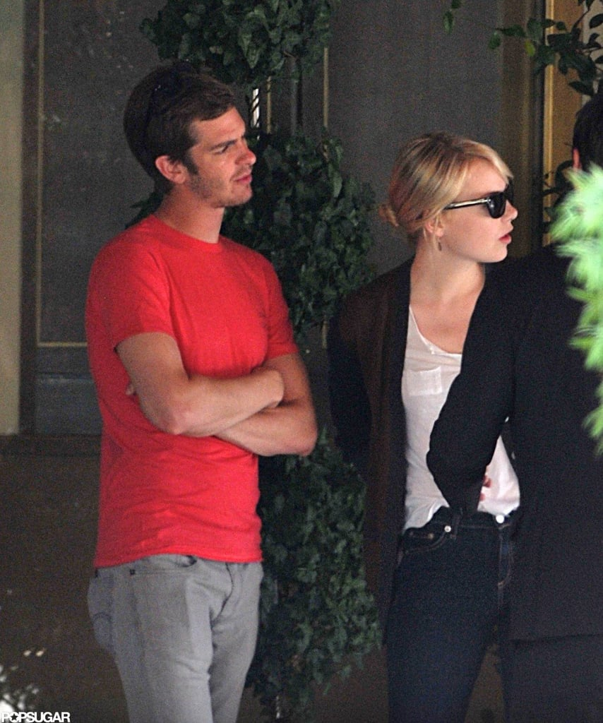Andrew Garfield and Emma Stone spent time together on a LA lunch date.