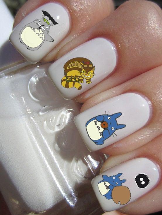 Totoro Nail Art Decals ($2) | Studio Ghibli Gifts | POPSUGAR Tech ...