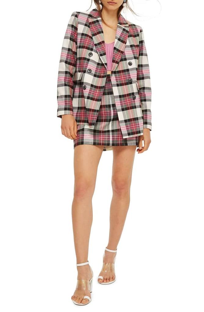 Topshop Tartan Pelmet Skirt