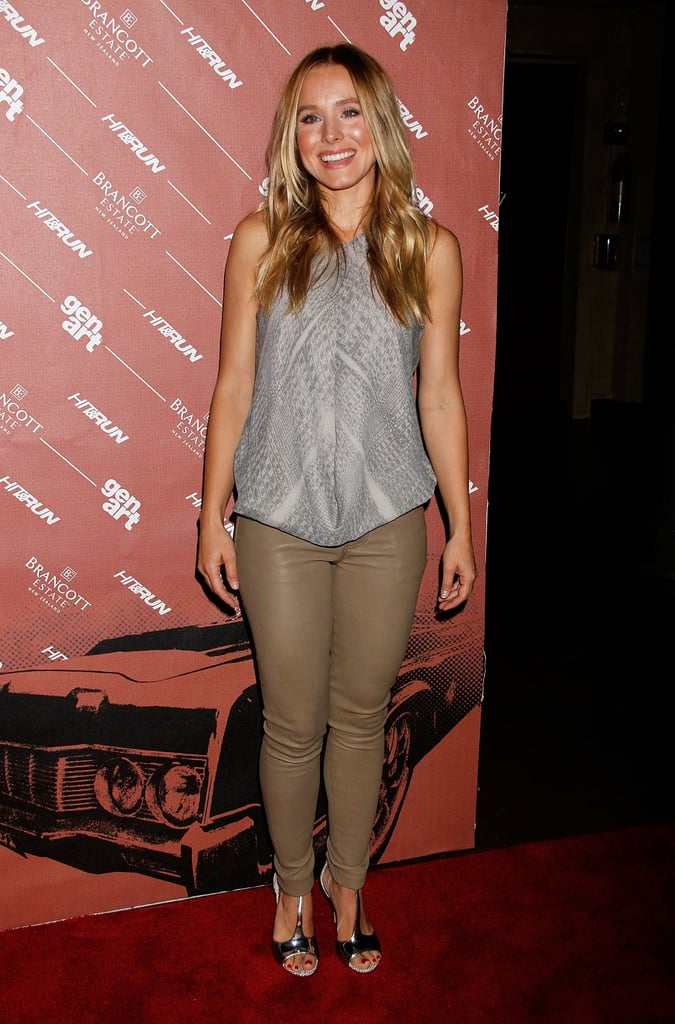 Kristen Bell gave a laugh at the Hit and Run screening in NYC.