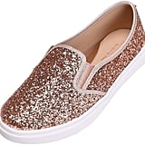 Feversole Rose Gold Glitter Sneakers