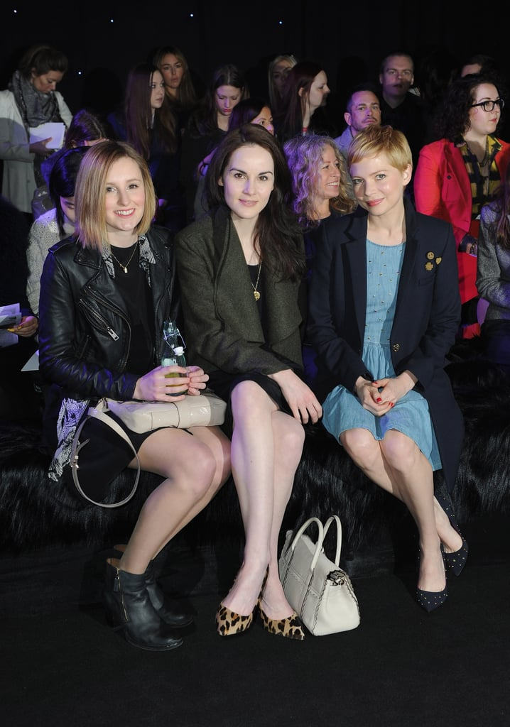 Laura Carmichael, Michelle Dockery and Michelle Williams at Mulberry