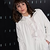 Noomi Rapace wore all white to the Prometheus premiere in Paris.