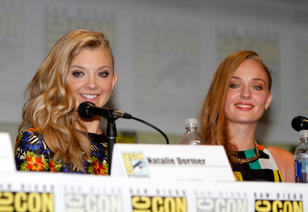 Natalie Dormer and Sophie Turner brought their megawatt smiles to HBO's panel for Game of Thrones on Friday.
