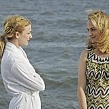 Emily VanCamp and Amber Valletta in ABC's Revenge.  Photo copyright 2011 ABC, Inc.