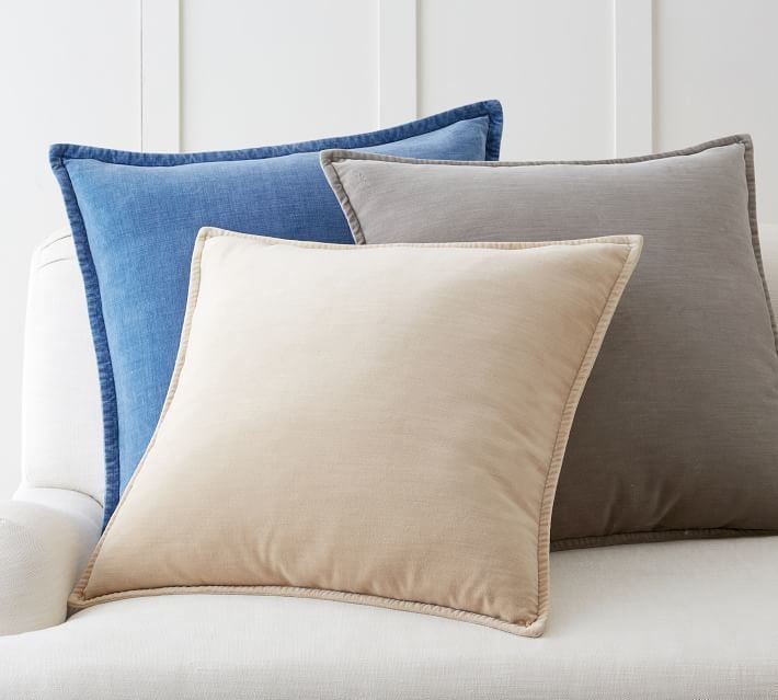 pottery barn washed velvet pillow cover - Pottery Barn Pillow Covers