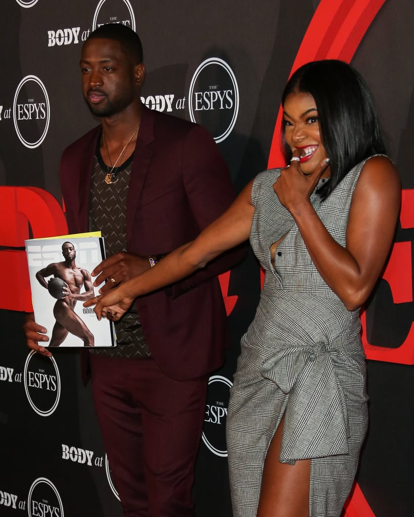 The actress had the perfect reaction to Dwyane's nude magazine cover while on the red carpet in 2016.