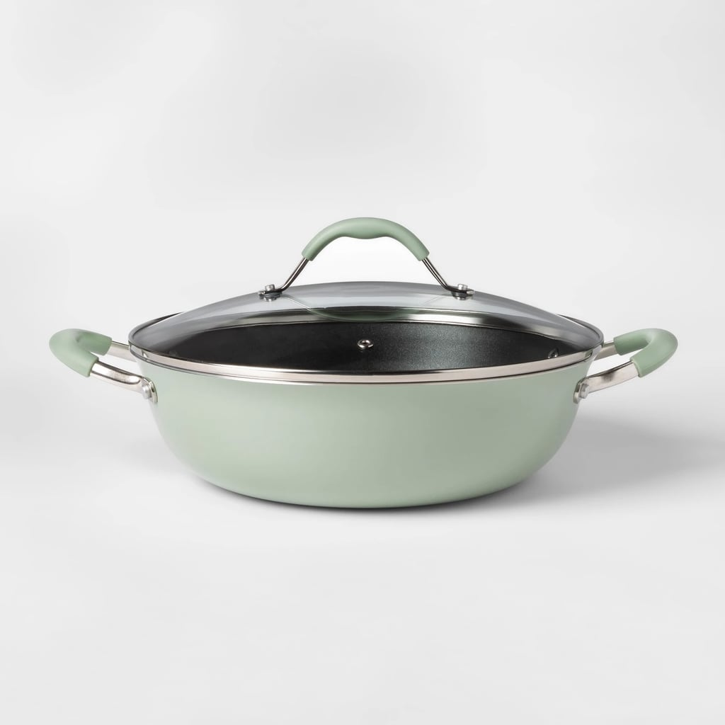 Cravings by Chrissy Teigen Aluminum Non-Stick Everyday Pan With Lid