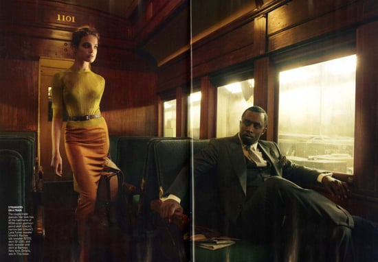 Sean 'Diddy'Combs and Natalia Vodianova for Vogue-february 2010