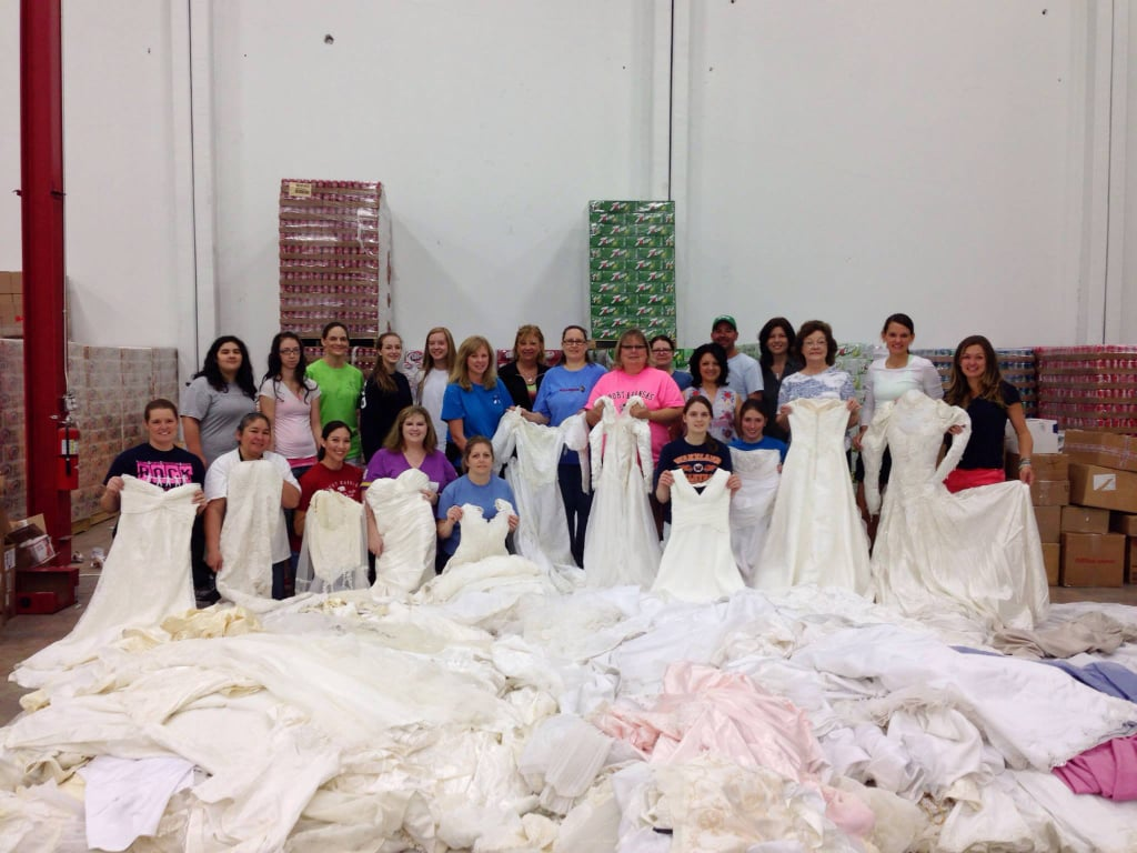 Outpourings of support have come from all over the world for Donate wedding dress cancer