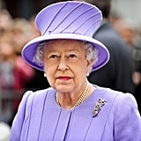 Pretty in purple, Queen Elizabeth II visited Exeter City Centre.